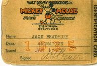 Disney ID card, 1935