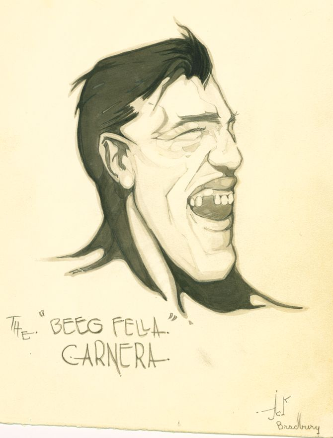 Primo Carnera drawing